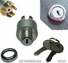 UNIVERSAL IGNITION SWITCH FLUSH MOUNT 12-V 7-WIRE 2-KEY 4-POSITION ON OFF START