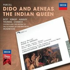 PURCELL Dido And Aeneas/The Indian Queen 2CD BRAND NEW Bott Kirkby Hogwood