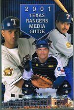 2001 Texas Rangers Baseball MLB Media GUIDE