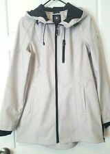 NWT~HALIFAX TRADERS Women's CREAMBLK Hooded Softshell Active Jacket Size M~