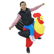 Inflatable Rooster chicken costume Halloween party fancy costume animal costume