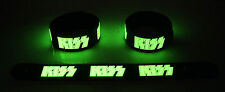 KISS  Glow in the Dark Rubber Bracelet Wristband Rock And Roll All Night gg138