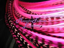 Feather hair extensions 10 Breast Cancer Awareness Kit Pink grizzly solids