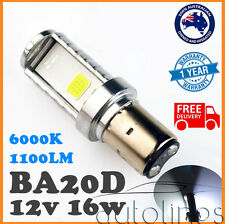 BA20D LED 1100LM 12V 80V 16W Motorbike Motorcycle Headlight Bulb Globe 6000K
