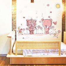 Baby Bedroom Removable Bear Nursery Girl Art Decal Wall Sticker Docor Supplies