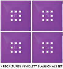 4er Set Tür Einsatz Ikea Regal Expedit Kallax mit Maße 33,6x33,6 cm*violett-blau