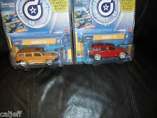 2 LOT HOT WHEELS DROPSTARS HUMMER H3 RED & GOLD PHAT LIP MINT 1/50 SCALE