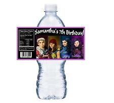 20 DISNEY DESCENDANTS PERSONALIZED BIRTHDAY PARTY FAVORS ~ WATER BOTTLE LABELS