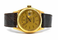 VINTAGE 1971 ROLEX DAY DATE PRESIDENT 1803 PIE PAN DIAL 18K MEN'S WRISTWATCH