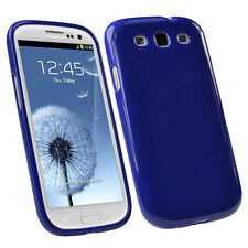 Blue Glossy TPU Gel Case for Samsung Galaxy S3 III i9300 Android Skin Cover