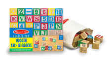Wooden ABC 123 Building Numbers Alphabet Colorful Toy Collection Blocks Set