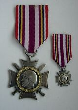 2 POLISH POLAND WWII COMBATANT CROSS HOME ARMY WOLYN + MINI SIZE