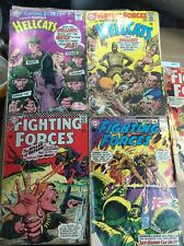Our fighting forces comics lot 83 87 101 111 114 silver age dc war run set movie