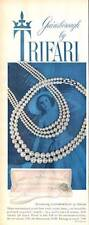"1959 Trifari Jewels ""Gainsboro"" Simulate Pearls Necklace  PRINT AD"