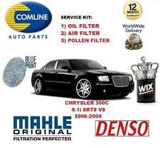 PARA CHRYSLER 300 C 6.1 SRT8 V8 06-09 FILTRO DE POLEN AIRE ACEITE KIT SERVICIO
