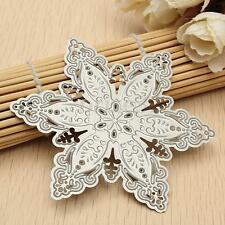 Mental Snowflake Christmas Cutting Dies DIY Scrapbooking Album Paper Card Decor
