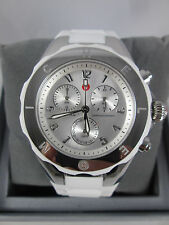 NEW Michele Large Tahitian Jelly Bean White & Silver Watch MWW12F000032 NIB