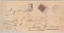 55437 - ITALIA REGNO - STORIA POSTALE :  BUSTA con annullo di POZZONOVO  1904