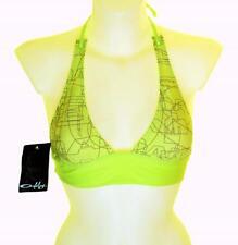 "Bnwt Femme Oakley mâchoire disjoncteur haut de bikini rembourré baignade surf medium 36 "" -37"" vert"