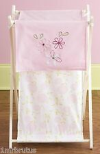 Laura Ashley Love Laundry Hamper Girl's Nursery Storage Organizer Pink Floral