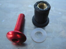 Screen Bolt Kit, red anodised alu, 4 bolts, for KTM Super Duke 990 LC8  R LC8