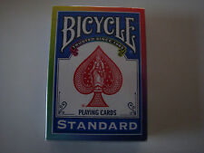 INVISIBLE RAINBOW BACK BICYCLE DECK GAFF GIMMICKED PLAYING CARDS MAGIC TRICKS