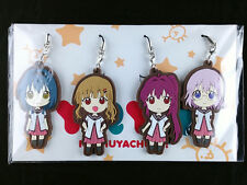 YuruYuri Nachuyachumi Rubber Strap set Key Chain Pony Canyon Student Council New