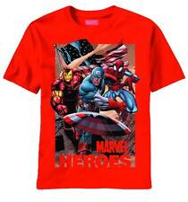 Marvel Heroes Captain America Iron Man Spider-Man Red T-Shirt Adult L (2013)
