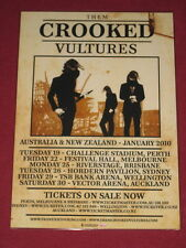 THEM CROOKED VULTURES - FOO FIGHTERS - DAVE GROHL -  PROMO AUS TOUR POSTER 2010