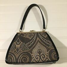 LIz Claiborne Ladies Evening  Bag Paisley Print Great Condition Wedding Formal