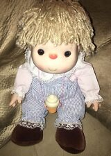 "1980s 16"" Ice Cream Girl Doll W Cone Necklace J Shin Original Clothes"