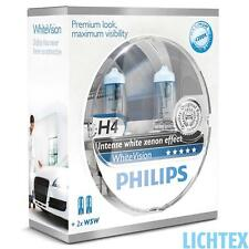 H4 + w5w Philips whitevision-intenso Xenon-efecto-duo-Box