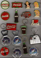 VINTAGe Coca Cola 1990s metal magnets&keyholders each piece has a number no 15