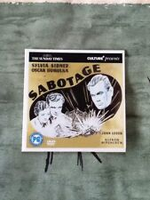 Sabotage The Woman Alone Alfred Hitchcock DVD Sylvia Sidney Region 2 Europe