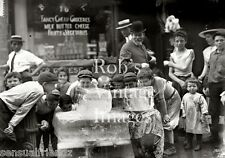 New York City photo Boy's Licking Ice Blocks on Hot Day Early 1905 Vintage