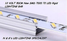2 x 12 VOLT 50CM New SMD 7020 72 LED Rigid LIGHTING BAR NEW BIGGER BRIGHTER CHIP