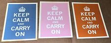 KEEP CALM AND CARRY ON 3 Retro Postcards  new