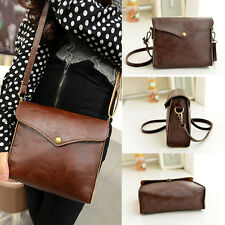 New Womens Bag Leather Shoulder Bag Satchel Handbag Tote Hobo Messenger Brown B4