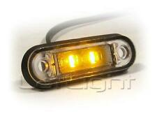 6x LED Side Marker Lights 12V 24V Truck Trailer Amber Position Lamp 12 24 Volt