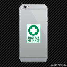 First Aid Kit Inside Cell Phone Sticker Mobile Die Cut emergency rescue