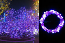 2M 20 LED Purple String Fairy Lights Indoor/Outdoor Xmas Christmas Party