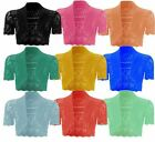 New Ladies Plus Size Knitted Crop Cardigans Womens Outerwear 8-20