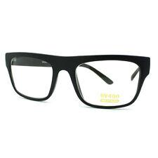 Unisex Rectangular Eyeglasses Classic Clear Optical Lens Frame MATTE BLACK