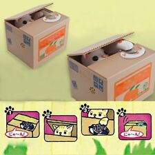 Collecting Saving Money Bank Cat Style Coin Money Box Piggy Bank For Children