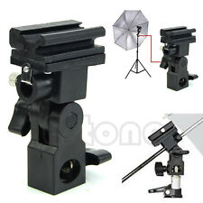 Swivel Hot Shoe Mount Photo Umbrella Holder Bracket B Flash Adapter Light Stand