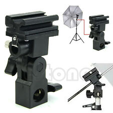 Hot Shoe Swivel Mount Photo Umbrella Holder Bracket B Flash Adapter Light Stand