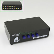 4 Port 4-1 Manual Video Audio RCA AV Switch Box Control Selector Switcher
