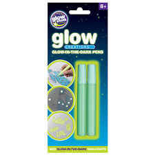 Glow Creations Glow in the Dark Pens 2 Pack NEW