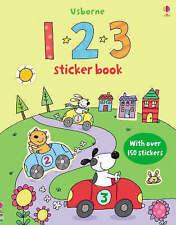 123 Sticker Book (Usborne Sticker Books) (First Sticker Books),New Condition