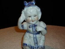 Delft style Blue & White figurine made in China